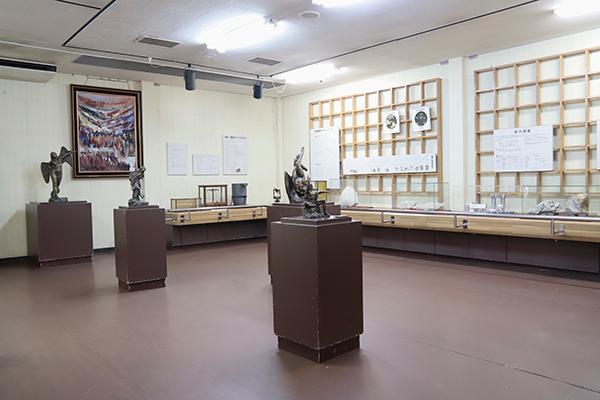 鯛生金山歴史資料館内部